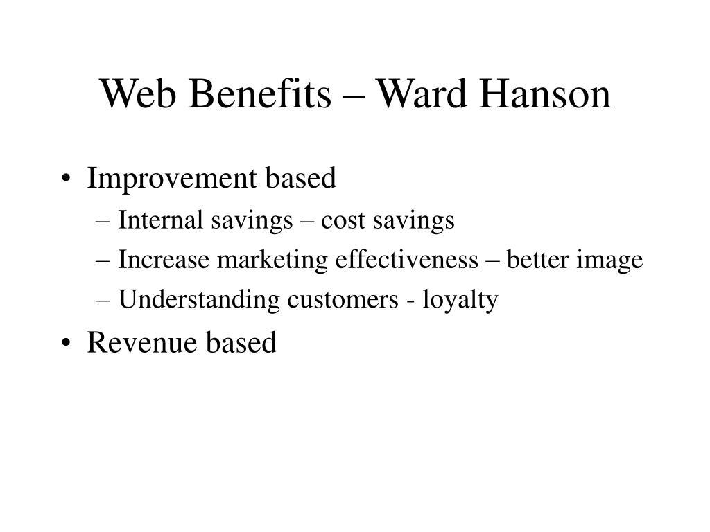 Web Benefits – Ward Hanson