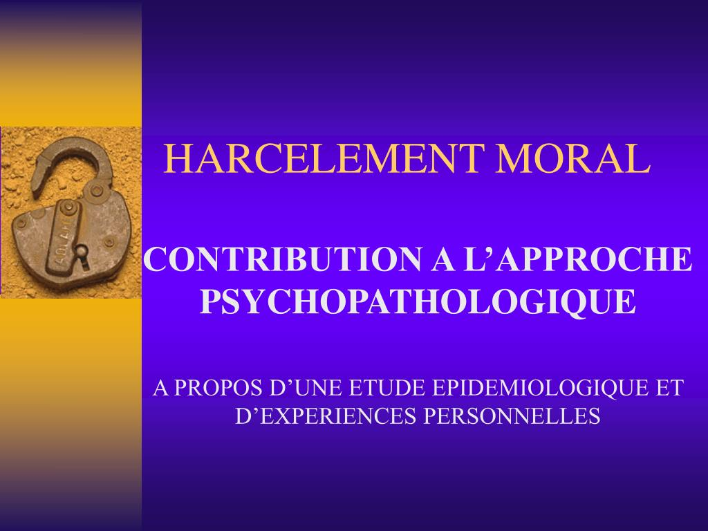 harcelement moral l.