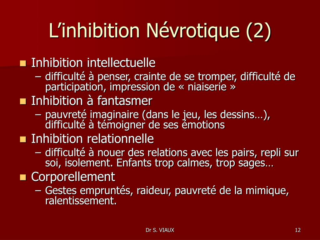 L'inhibition Névrotique (2)