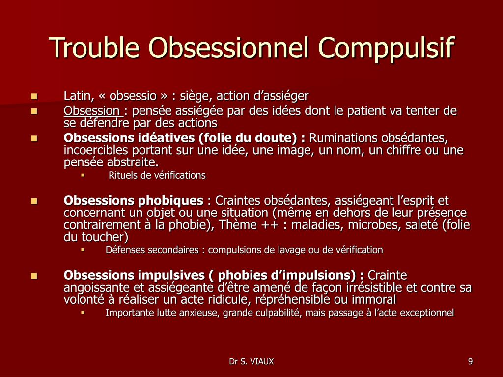 Trouble Obsessionnel Comppulsif