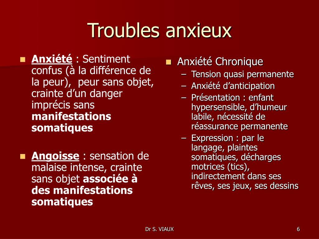 Anxiété