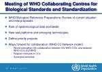 meeting of who collaborating centres for biological standards and standardization