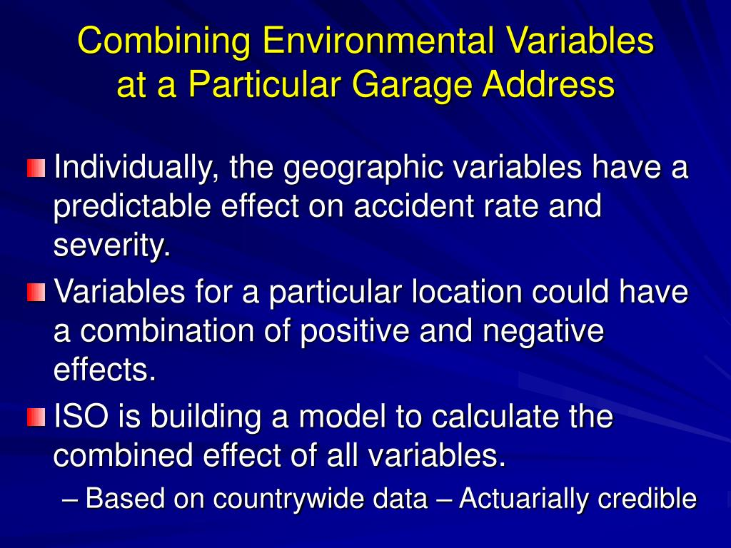 Combining Environmental Variables