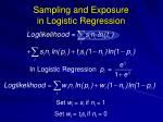 sampling and exposure in logistic regression18