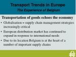 2 transport of goods echo of the economy