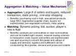 aggregation matching value mechanism