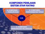 komponen penilaian sistem star rating