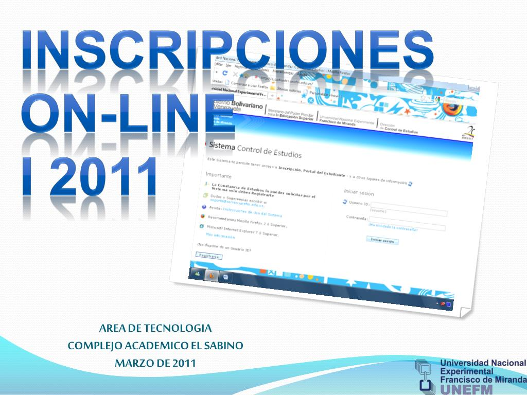 area de tecnologia complejo academico el sabino marzo de 2011 l.