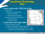 conditional climatology data