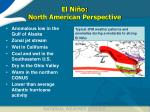 el ni o north american perspective
