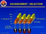 advancement selection