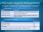 injectable atypical antipsychotics invega sustenna and risperdal consta