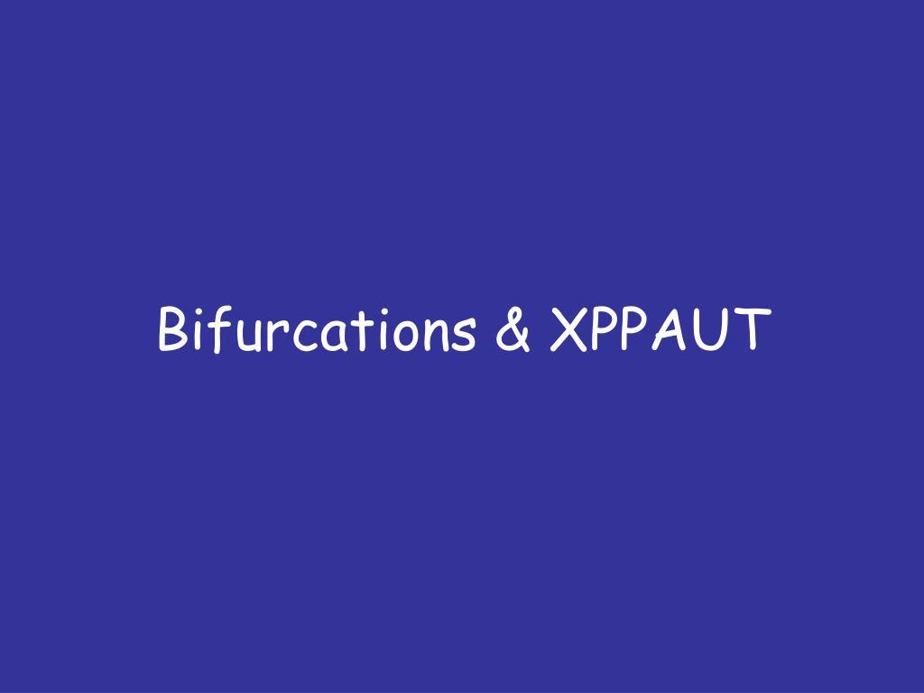 bifurcations xppaut l.
