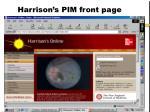 harrison s pim front page