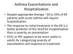 asthma exacerbations and hospitalization