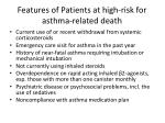 features of patients at high risk for asthma related death