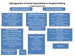management of acute exacerbations hospital setting continuation