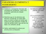 paradigma iluminista y posmoderno73