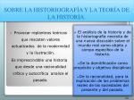 sobre la historiograf a y la teor a de la historia104