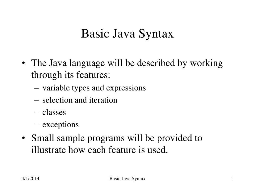 basic java syntax l.