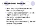 2 unpublished literature70