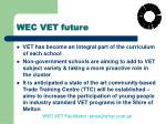 wec vet future