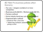 2 how pro business policies affect economy