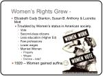 women s rights grew