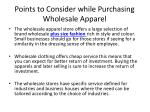 points to consider while purchasing wholesale apparel