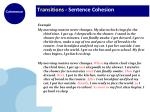 transitions sentence cohesion16