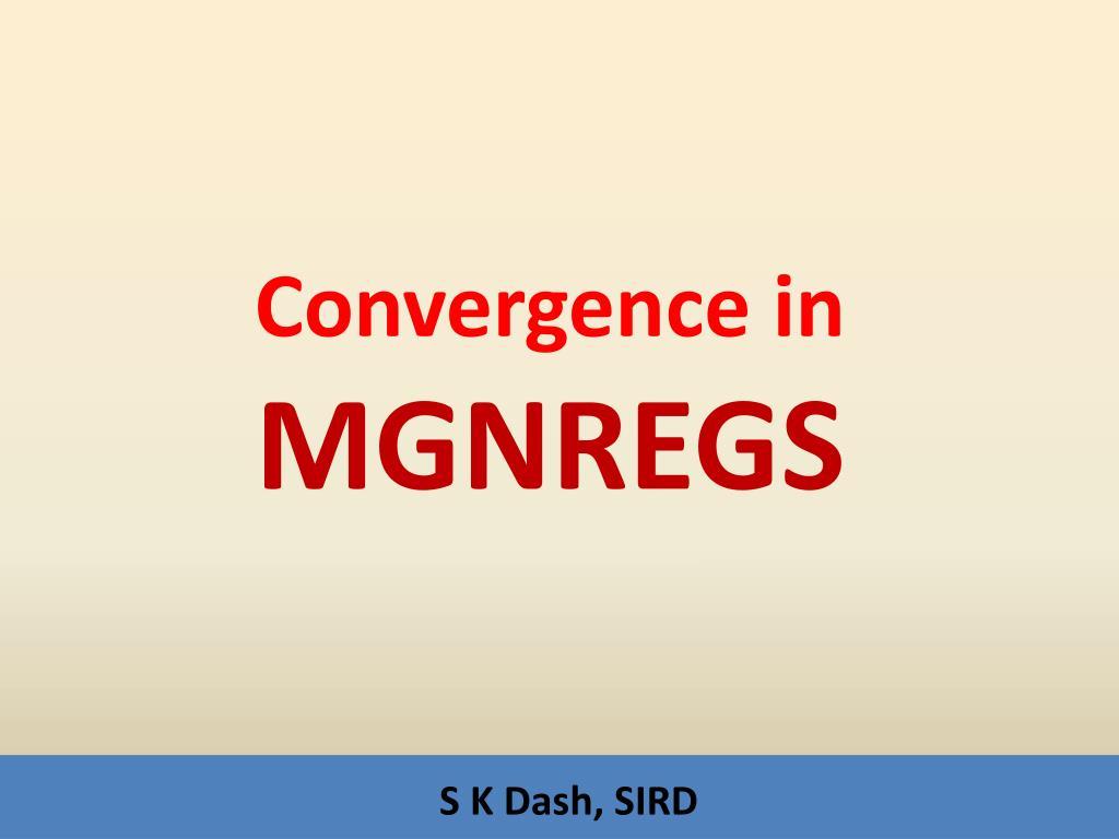 convergence in mgnregs l.