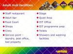 adult hub facilities