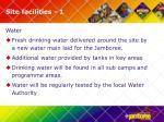 site facilities 1