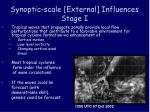synoptic scale external influences stage i