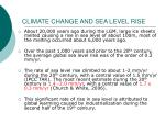 climate change and sea level rise15