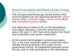 greenhouse gases and global climate change