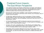 predicted future impacts the east african perspective