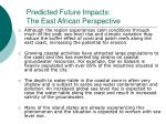 predicted future impacts the east african perspective41