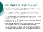 relative sea level change