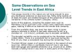 some observations on sea level trends in east africa