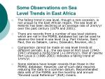some observations on sea level trends in east africa28