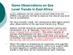 some observations on sea level trends in east africa29