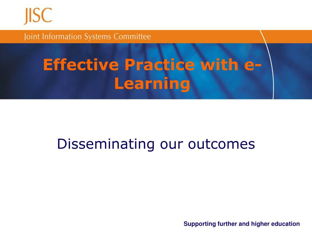 effective practice with e learning l.