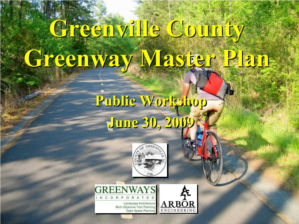 greenville county greenway master plan l.