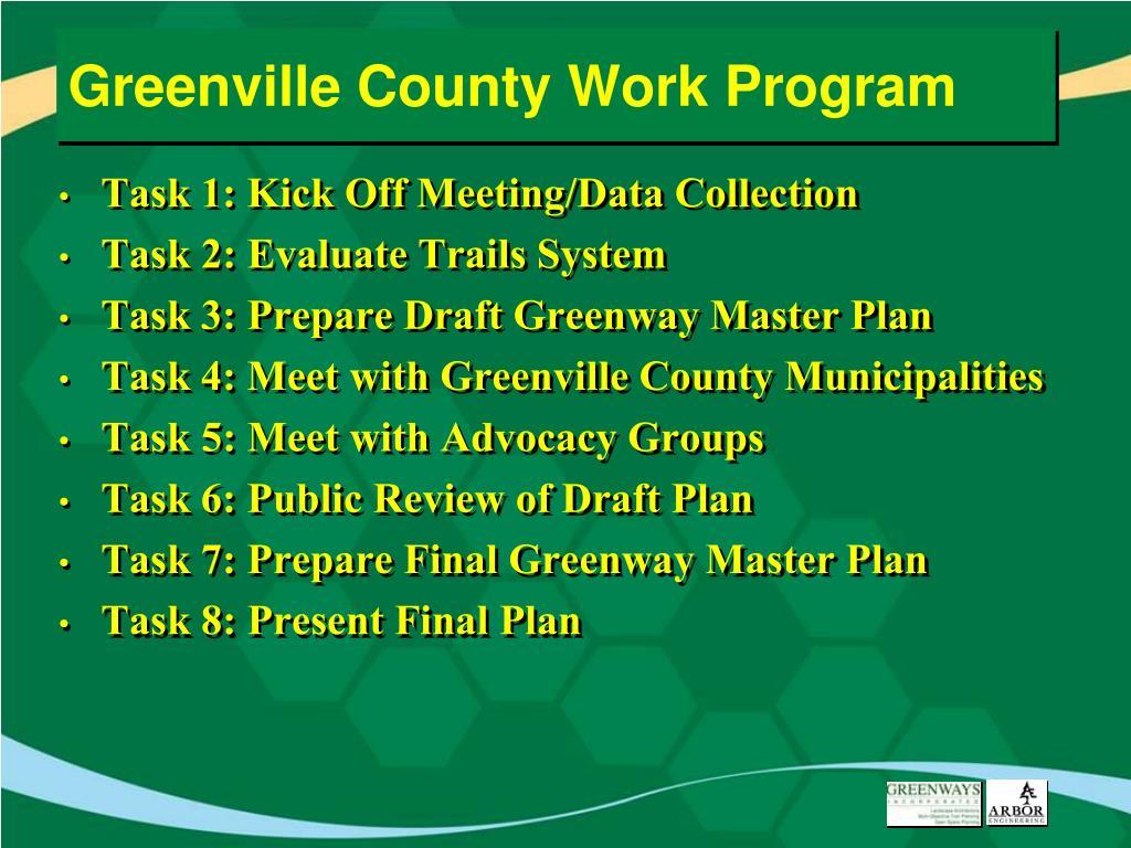 Greenville County Work Program