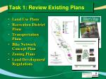 task 1 review existing plans