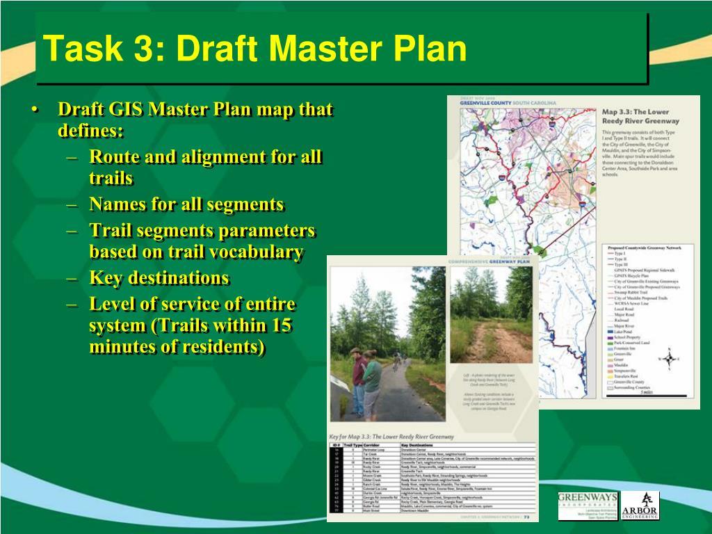 Task 3: Draft Master Plan
