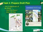 task 3 prepare draft plan