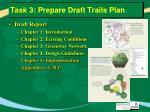 task 3 prepare draft trails plan