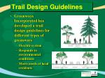 trail design guidelines